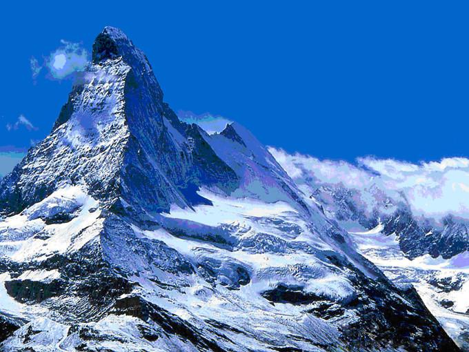 淡蓝色雪景素材